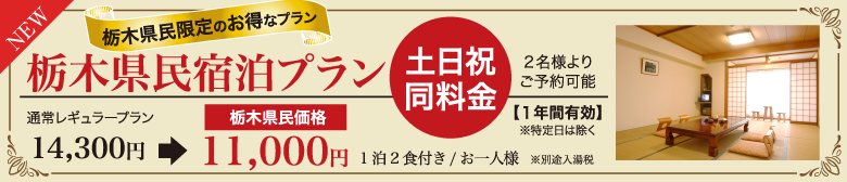 栃木県限定プラン